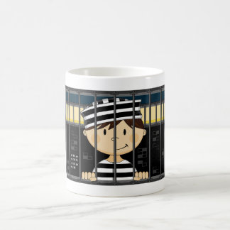 Cartoon Prisoner in Jail Cell Coffee Mug