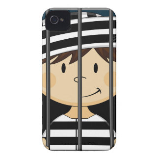 Cartoon Prisoner in Jail Cell iPhone 4 Case