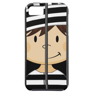 Cartoon Prisoner in Jail Cell iPhone SE/5/5s Case