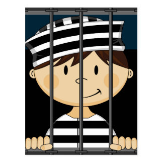 jail cartoon cards zazzle