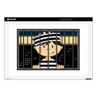 """Cartoon Prisoner in Jail Cell Skin For 17"""" Laptop"""