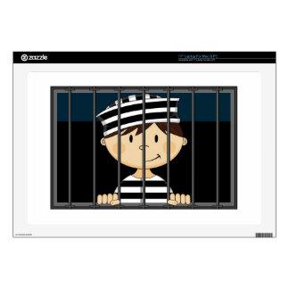 Cartoon Prisoner in Jail Cell Skin For Laptop