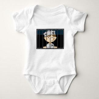 Cartoon Prisoner in Jail Cell Tshirts