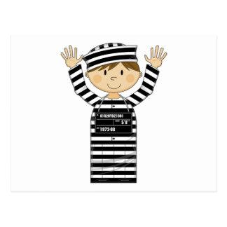 Cartoon Prisoner Postcard