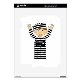 Cartoon Prisoner Skins For iPad 2
