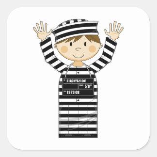 Cartoon Prisoner Square Sticker