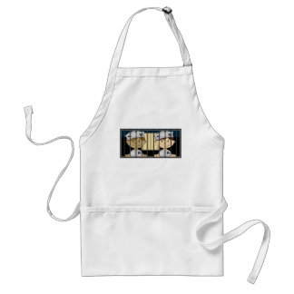 Cartoon Prisoners in Jail Cell Adult Apron
