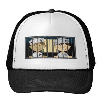 Cartoon Prisoners in Jail Cell Trucker Hat