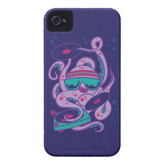 CARTOON PSYCHEDELIC OCTOPUS DJ with Turntable iPhone 4 Cover