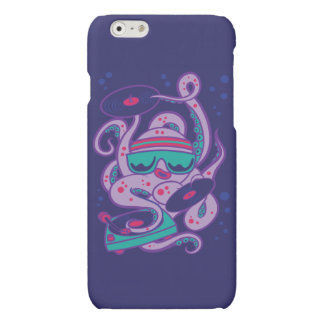 CARTOON PSYCHEDELIC OCTOPUS DJ with Turntable Matte iPhone 6 Case
