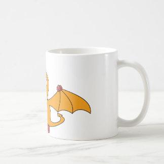 Cartoon Pterodactyl (yellow) Classic White Coffee Mug