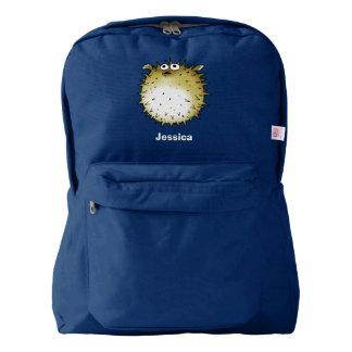 cartoon puffer fish backpack