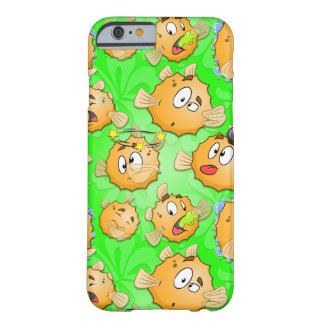 Cartoon puffer fish iPhone cover Barely There iPhone 6 Case