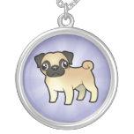 Cartoon Pug Custom Necklace