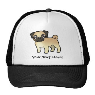 Cartoon Pug Trucker Hat