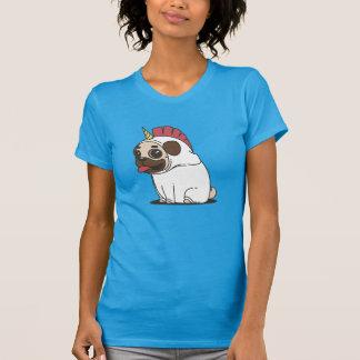 Cartoon Pug in Unicorn Costume Pugicorn T-Shirt