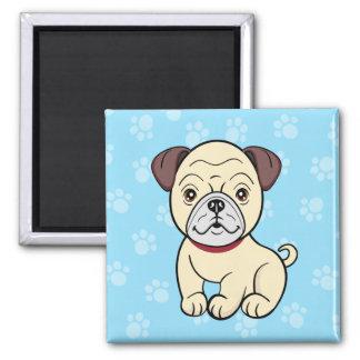 Cartoon Pug Magnet