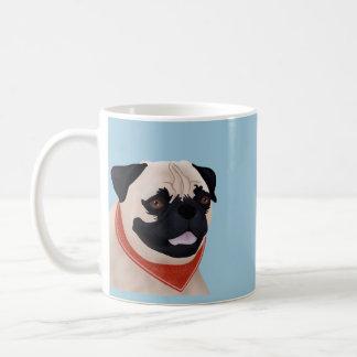 Cartoon Pug Classic White Coffee Mug