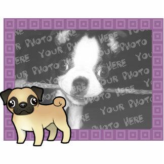 Cartoon Pug Photo Frame Cutout