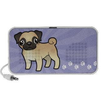 Cartoon Pug iPod Speakers