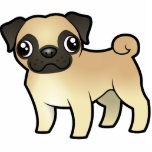 Cartoon Pug Statuette