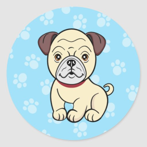 Cartoon Pug Sticker