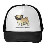 Cartoon Pug Trucker Hat