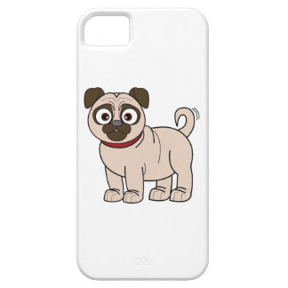 Cartoon Pug with Wagging Tail iPhone SE/5/5s Case