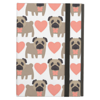 Cartoon Pugs and Hearts iPad Air Case