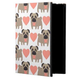 Cartoon Pugs and Hearts iPad Air Cases
