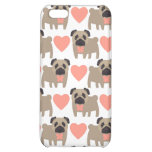 Cartoon Pugs and Hearts iPhone 5C Cover