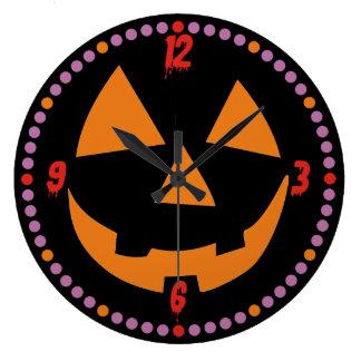 Cartoon Pumpkin Face Halloween Wall Clocks