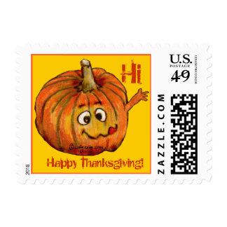 Cartoon Pumpkin Small Postage