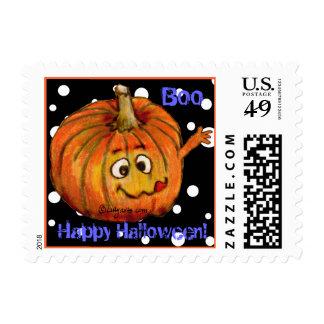 Cartoon Pumpkin Small Postage Square