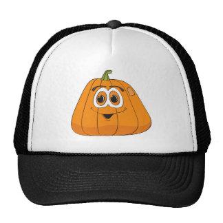 Cartoon Pumpkin Trucker Hat