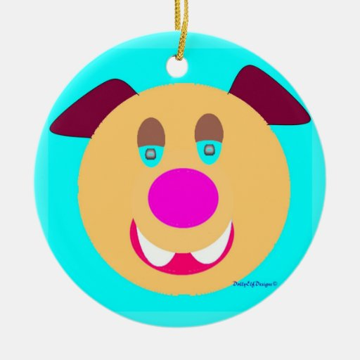 Cartoon Pup Ornament