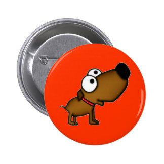 Cartoon Puppy Pinback Buttons