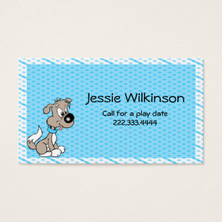 Cartoon Puppy Custom Playdate Card