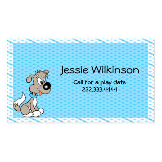 Cartoon Puppy Custom Playdate Card Double-Sided Standard Business Cards (Pack Of 100)