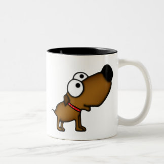 Cartoon Puppy Two-Tone Coffee Mug