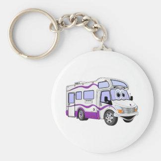 Cartoon Purple Camper Keychain