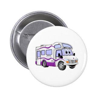 Cartoon Purple Camper Pin