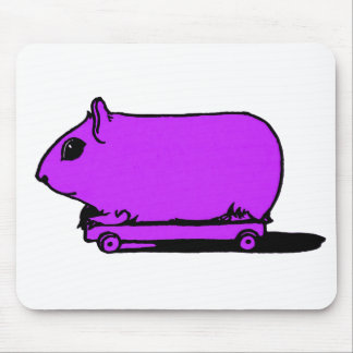 Cartoon Purple Guinea Pig Hamster Mousepad