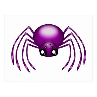 Cartoon Purple Spider Postcard