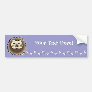 Cartoon Pygmy Hedgehog Car Bumper Sticker