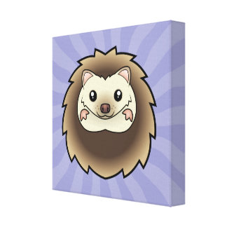 Cartoon Pygmy Hedgehog Canvas Print