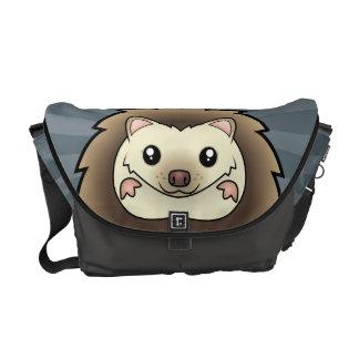 Cartoon Pygmy Hedgehog Courier Bag