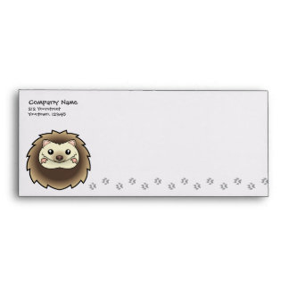 Cartoon Pygmy Hedgehog Envelope