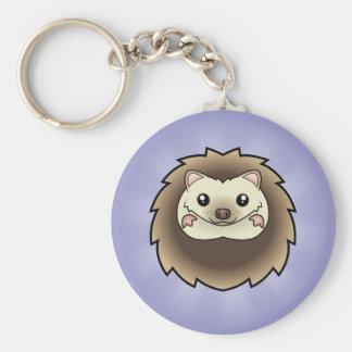 Cartoon Pygmy Hedgehog Keychains