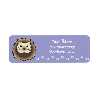 Cartoon Pygmy Hedgehog Label